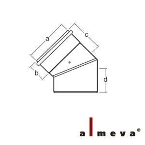 ALMEVA PPS/PPS ÍV 45° 60/100  LPBK45