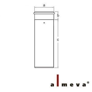 ALMEVA PPS/PPS CSÕ 60/100 1000MM  LPRK15