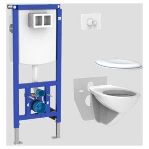 SANIT ÖNHORDÓ WC TARTÁLY SZETT INEO PLUS 450+ KOLO WC+FEH.NYL